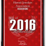 Best of Honolulu 2016 Plaque Red